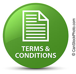Terms and conditions (page icon) soft green round button