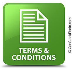 Terms and conditions (page icon) soft green square button