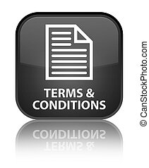 Terms and conditions (page icon) special black square button
