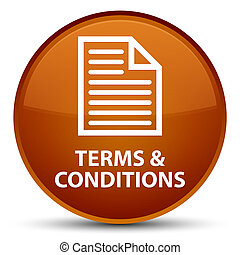 Terms and conditions (page icon) special brown round button