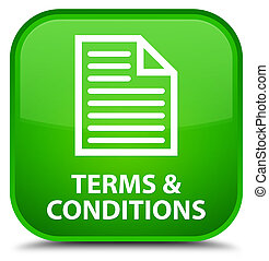 Terms and conditions (page icon) special green square button