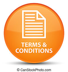 Terms and conditions (page icon) special orange round button