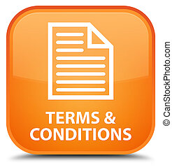 Terms and conditions (page icon) special orange square button