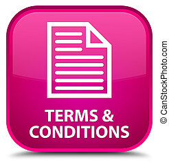 Terms and conditions (page icon) special pink square button