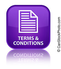 Terms and conditions (page icon) special purple square button
