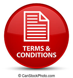 Terms and conditions (page icon) special red round button