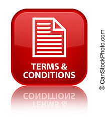 Terms and conditions (page icon) special red square button