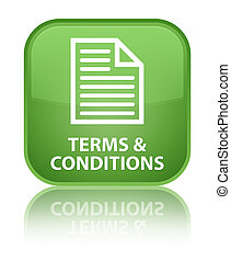 Terms and conditions (page icon) special soft green square button