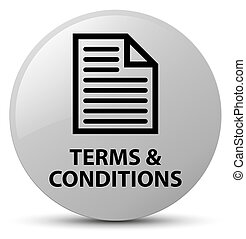 Terms and conditions (page icon) white round button