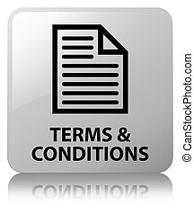 Terms and conditions (page icon) white square button