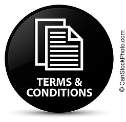 Terms and conditions (pages icon) black round button