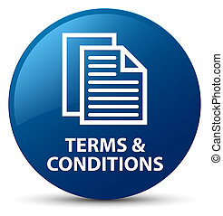 Terms and conditions (pages icon) blue round button
