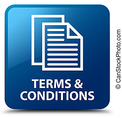 Terms and conditions (pages icon) blue square button