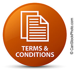Terms and conditions (pages icon) brown round button