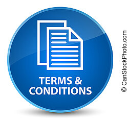 Terms and conditions (pages icon) elegant blue round button