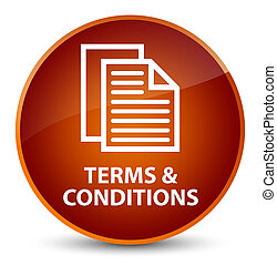 Terms and conditions (pages icon) elegant brown round button