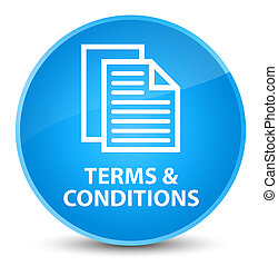 Terms and conditions (pages icon) elegant cyan blue round button