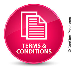 Terms and conditions (pages icon) elegant pink round button