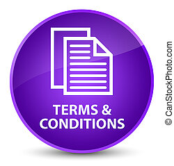 Terms and conditions (pages icon) elegant purple round button