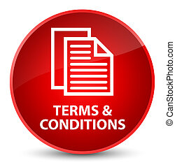 Terms and conditions (pages icon) elegant red round button