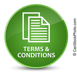 Terms and conditions (pages icon) elegant soft green round button
