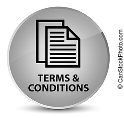 Terms and conditions (pages icon) elegant white round button