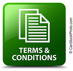 Terms and conditions (pages icon) green square button