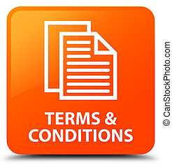 Terms and conditions (pages icon) orange square button