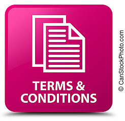 Terms and conditions (pages icon) pink square button