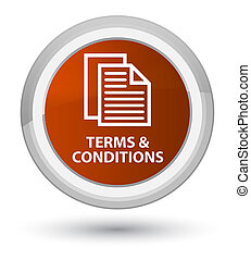 Terms and conditions (pages icon) prime brown round button