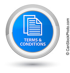 Terms and conditions (pages icon) prime cyan blue round button