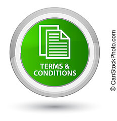 Terms and conditions (pages icon) prime green round button