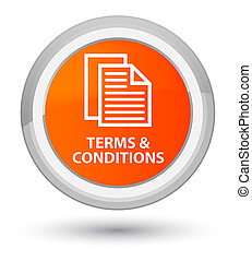Terms and conditions (pages icon) prime orange round button