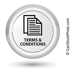 Terms and conditions (pages icon) prime white round button