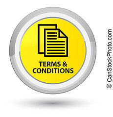 Terms and conditions (pages icon) prime yellow round button