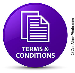 Terms and conditions (pages icon) purple round button