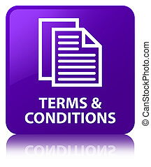 Terms and conditions (pages icon) purple square button