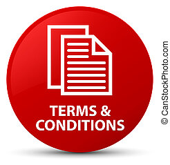 Terms and conditions (pages icon) red round button