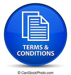 Terms and conditions (pages icon) special blue round button