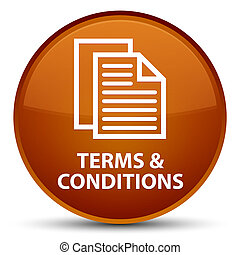 Terms and conditions (pages icon) special brown round button