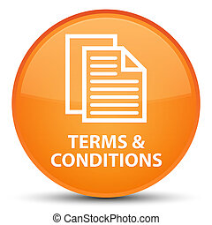 Terms and conditions (pages icon) special orange round button