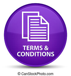 Terms and conditions (pages icon) special purple round button