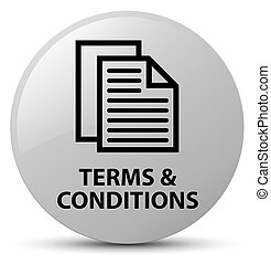 Terms and conditions (pages icon) white round button