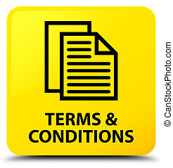 Terms and conditions (pages icon) yellow square button