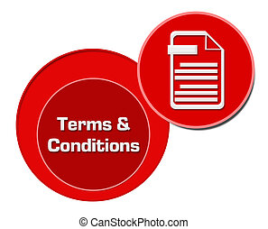 Terms And Conditions Red Circles