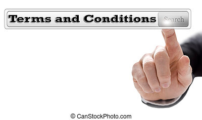 Terms and conditions written in search bar on virtual...