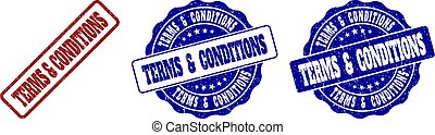 TERMS & CONDITIONS Grunge Stamp Seals