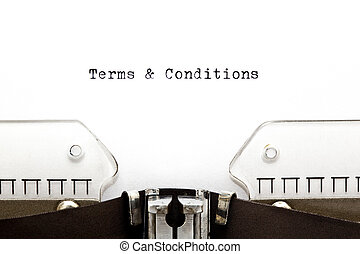 Terms & Conditions on Typewriter - Terms & Conditions...