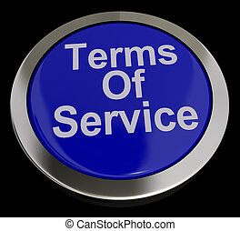 Terms Of Service Computer Button In Blue Showing Websites...