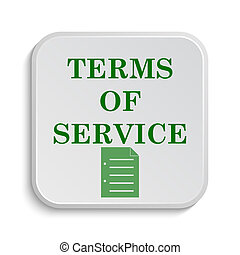 Terms of service icon. Internet button on white background.